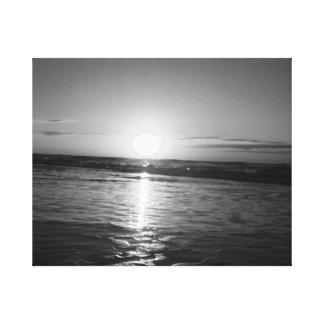 Sunrise in Black & White Canvas Print