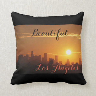 Sunrise in Los Angeles Throw Pillow