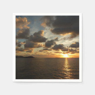 Sunrise in St. Thomas I US Virgin Islands Disposable Napkin