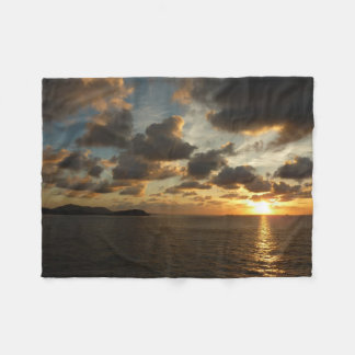 Sunrise in St. Thomas I US Virgin Islands Fleece Blanket