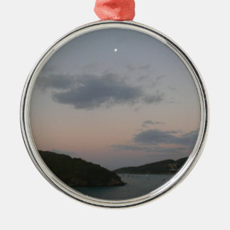 Sunrise in St. Thomas III US Virgin Islands Silver-Colored Round Ornament