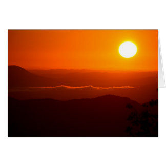 Sunrise in the Cumberland Mountains Card