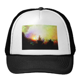 Sunrise In The Forest Mesh Hat