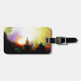 Sunrise In The Forest Luggage Tag