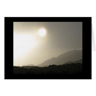 Sunrise in the high desert card