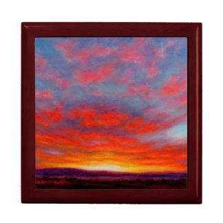 Sunrise in the Mountains of Montana Keepsake Box
