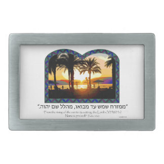 Sunrise in Tiberias Rectangular Belt Buckle