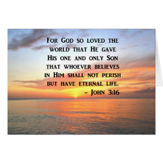 SUNRISE JOHN 3:16 INSPIRING PHOTO CARD