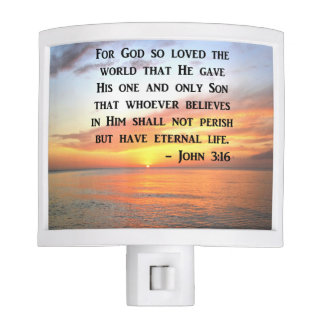 SUNRISE JOHN 3:16 INSPIRING PHOTO NITE LIGHTS