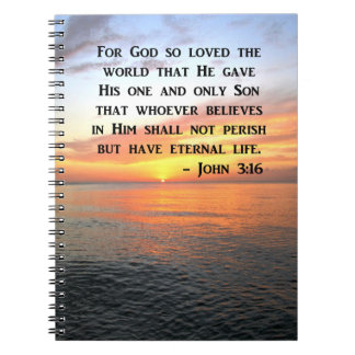 SUNRISE JOHN 3:16 INSPIRING PHOTO NOTEBOOKS