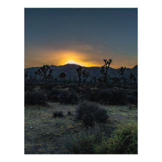 Sunrise Joshua Tree National Park Customized Letterhead