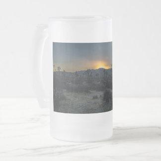 Sunrise Joshua Tree National Park Frosted Glass Beer Mug