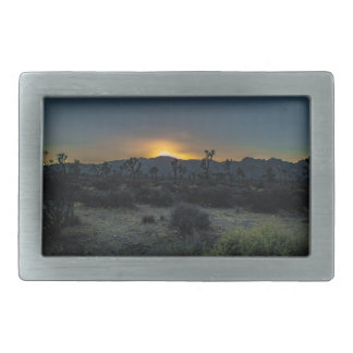 Sunrise Joshua Tree National Park Rectangular Belt Buckle