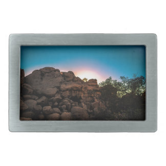 Sunrise Joshua Tree National Park Rectangular Belt Buckles