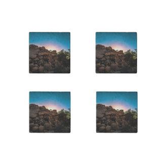 Sunrise Joshua Tree National Park Stone Magnets