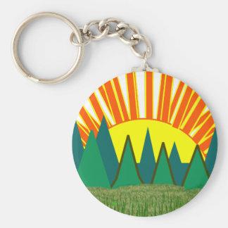 Sunrise Keychain with Blue Sky - C... - Customized