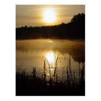 Sunrise Lake Reflection Postcard