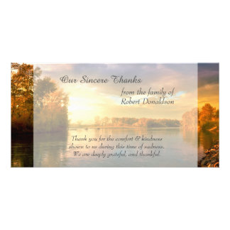 Sunrise Lake Sympathy Thank You Card