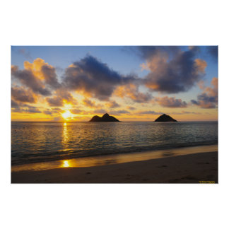 Sunrise_Lanikai Beach_ Hawaii Poster