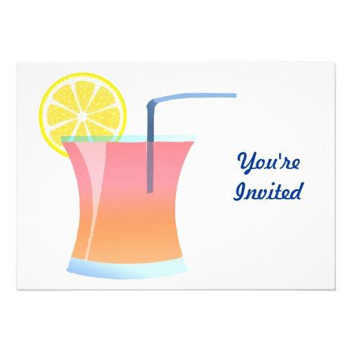 Sunrise Lemon Cooler Custom Invitations