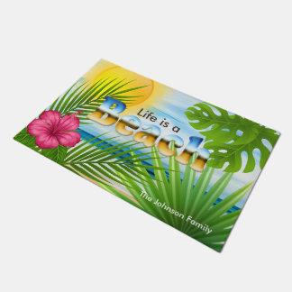 Sunrise Life is a Beach Tropical Design Doormat