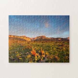 Sunrise Lights Blackleaf Canyon 2 Jigsaw Puzzle