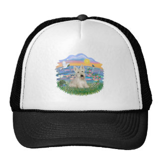 Sunrise Lilies - Wheaten Scottish Terrier Trucker Hat