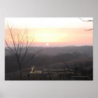 Sunrise Love 1 Cor. 13: 4,7  Print