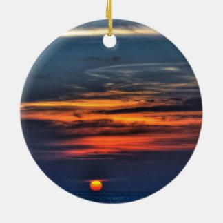 Sunrise,Melbourne,Florida Round Ceramic Ornament