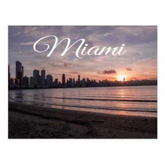 Sunrise Miami Skyline, Florida - USA Postcard