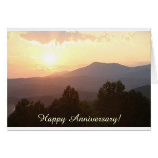 Sunrise Mountains Anniversary Card