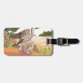 Sunrise Nene (Hawaiian Goose) Luggage Tag