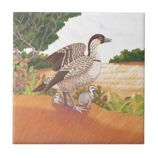 Sunrise Nene (Hawaiian Goose) Tile