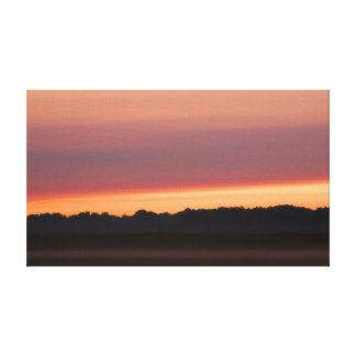 sunrise niles michigan canvas print
