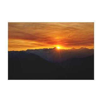 Sunrise North Cascades Canvas Print
