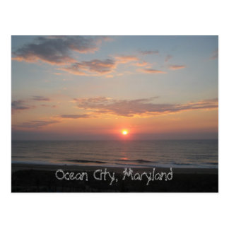 """Sunrise - Ocean City, Maryland"" Postcard"