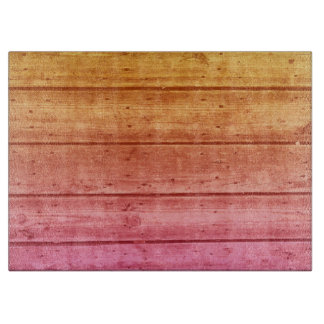 Sunrise Ombre Wood Planked Large Cutting Board