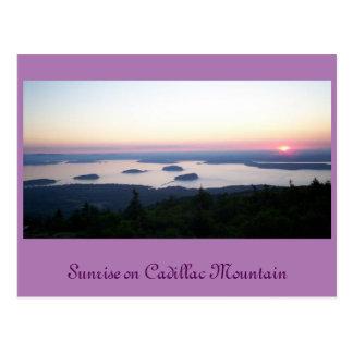 Sunrise on Cadillac Mt., Postcard