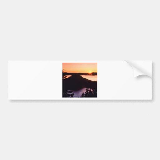 Sunrise On Crater Island Crater Oregon Bumper Sticker