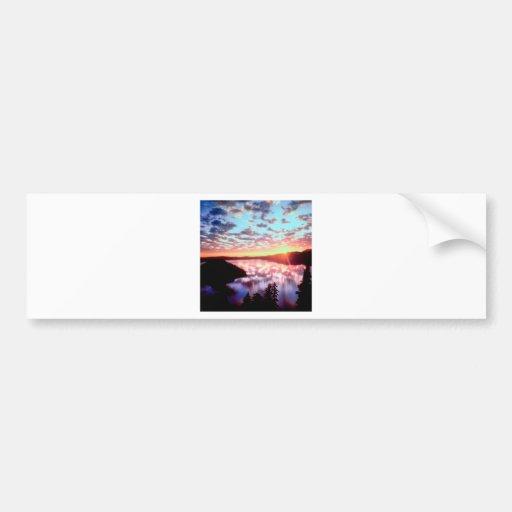 Sunrise On Island Crater Oregon Bumper Stickers