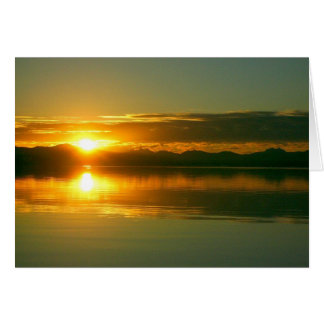 Sunrise on Lake Yellowstone (blank inside) Card