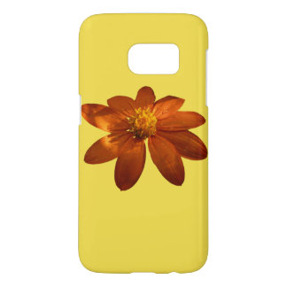 Sunrise on Mexican Sunflower Orange Floral Samsung Galaxy S7 Case