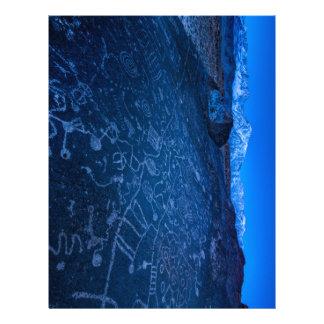 Sunrise On Sky Rock Petroglyph And Sierra Nevada Letterhead