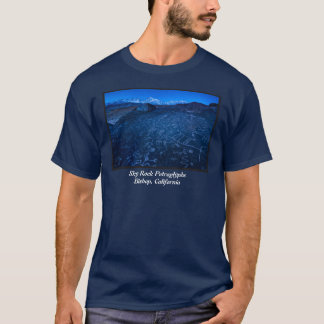 Sunrise On Sky Rock Petroglyph And Sierra Nevada T-Shirt