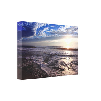 Sunrise on the beach canvas print
