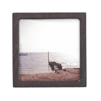 sunrise on the beach photograph premium jewelry box
