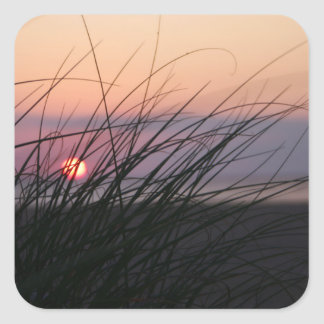 Sunrise on the Beach Square Sticker