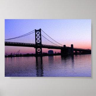 Sunrise on the Delaware Poster