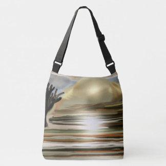 Sunrise on the Desert Southwest Abstract Art Crossbody Bag
