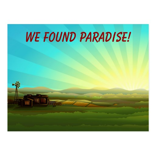 Sunrise on the Farm Paradise Postcards
